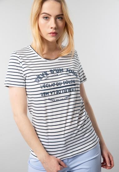 T-shirt z nadrukiem M.X.O