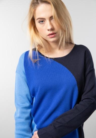Wielokolorowy sweter damski...