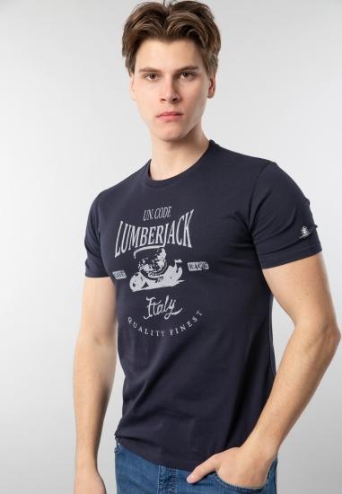Męski t-shirt z nadrukiem Lumberjack