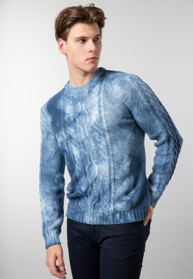 Cieniowany sweter męski...