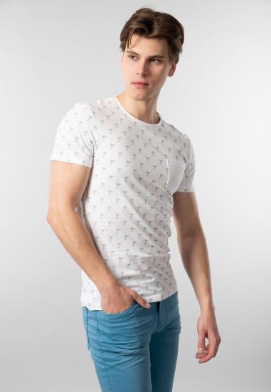 Wzorzysty t-shirt męski Blend