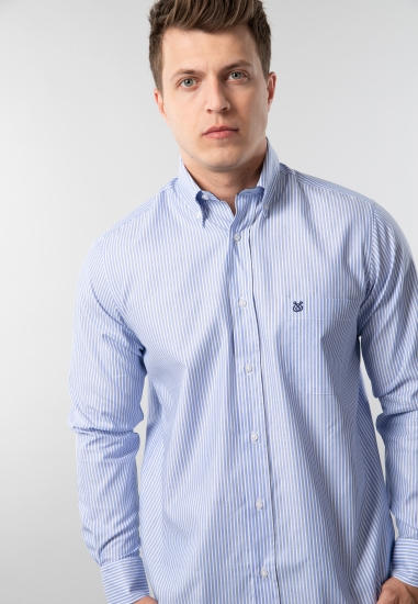 Koszula męska w paski regular fit Rotte Mediterranee