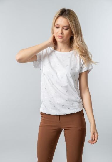 T-shirt damski z nadrukiem Cecil