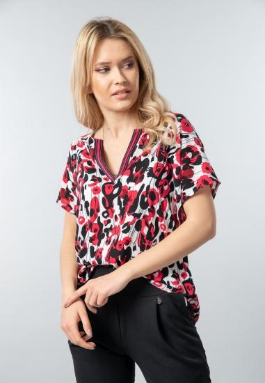 Wzorzysta bluzka damska Garcia