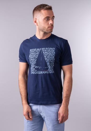 T-shirt męski z nadrukiem Re Del Mare