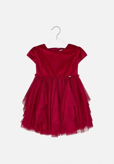 Elegancka sukienka tiulowa Mayoral - 00685 CZERWONY