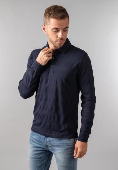 T-shirt polo z długim rękawem Pierre Cardin