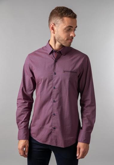 Koszula męska modern fit Pierre Cardin - 0069041 BORDO
