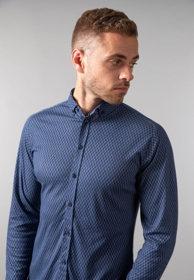 Wzorzysta koszula męska slim fit Desoto