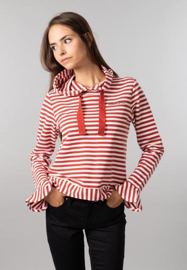 Bluza damska w paski z kapturem Garcia Jeans