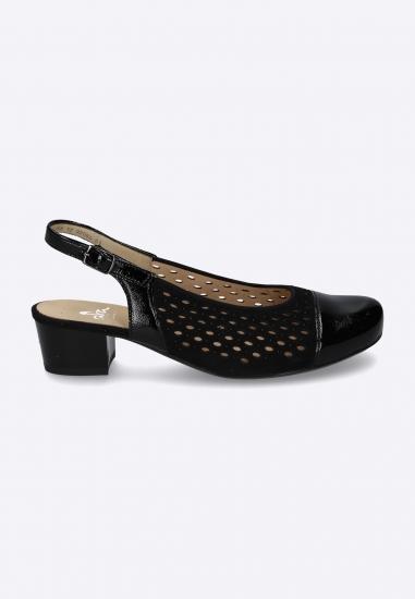 Ażurowe sandały bez pięty...