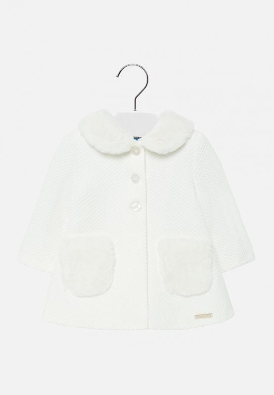Dzianinowy elegancki płaszcz Mayoral baby