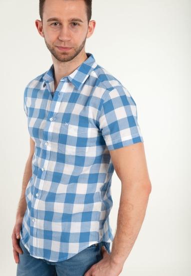 Koszula w kratę WRANGLER -...