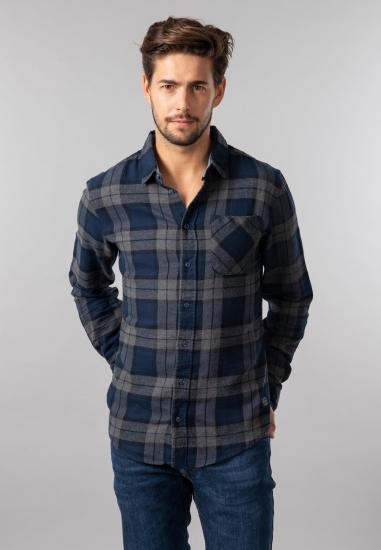 Flanelowa koszula męska w kratkę Blend