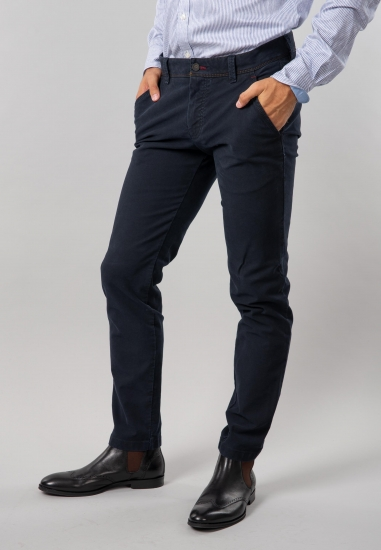 Spodnie męskie slim fit Bugatti