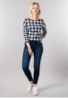 Wzorzysty sweter damski Cecil