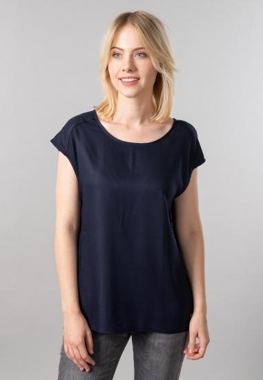 Koszulka damska z wiązaniem Cecil - 00710128 GRANAT