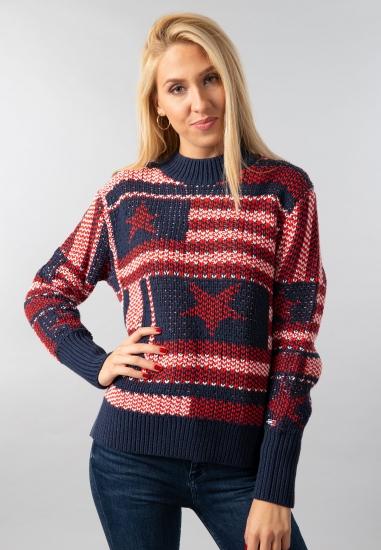 Wzorzysty sweter damski Tommy Jeans