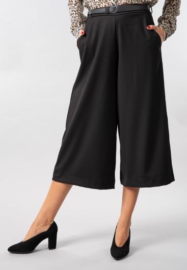Spodnie culotte z paskiem Eks