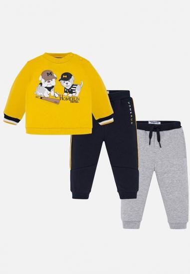 chłopięcy dres w pieski Mayoral Baby - 00570 ZOLTY-GRANAT