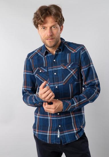 Koszula męska w kratkę Garcia Jeans