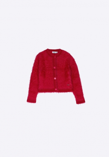 Sweter z dzianiny MELBY - 008H722 FUXIA