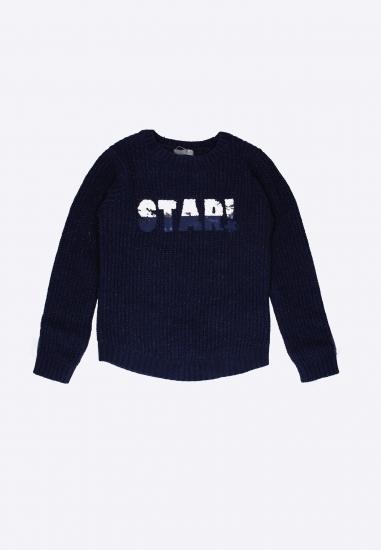 Sweter z napisem STAR! LOSAN - 007378 GRANAT