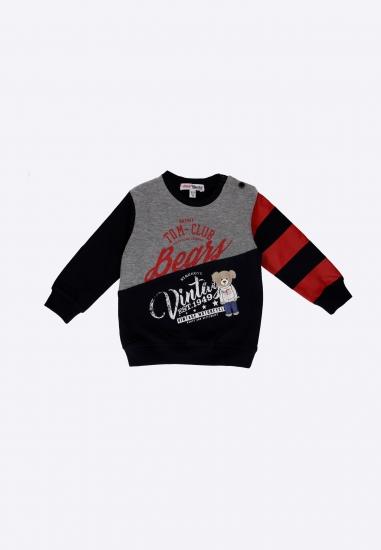 Bluza chłopięca z nadrukami Yours - 007595 GRANAT