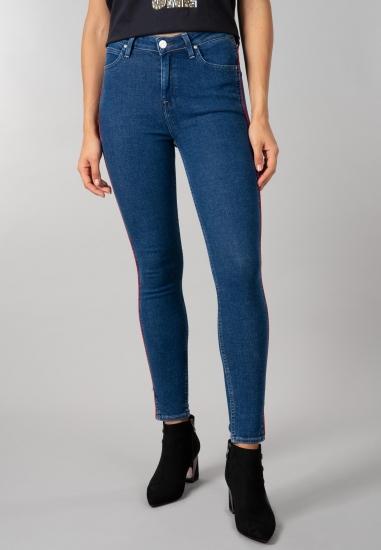 Jeansy Lee® o fasonie skinny high waist z lampasam