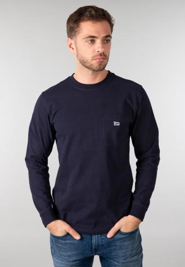 Męska koszulka z długim rękawem Lee - 007WMA GRANAT
