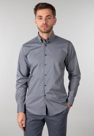 Koszula męska Re Del Mare - 003S23 SZARY