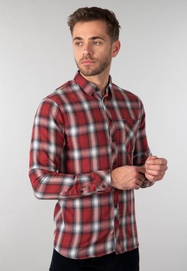 Koszula męska w kratę Blend - 00673813 CZERWONY