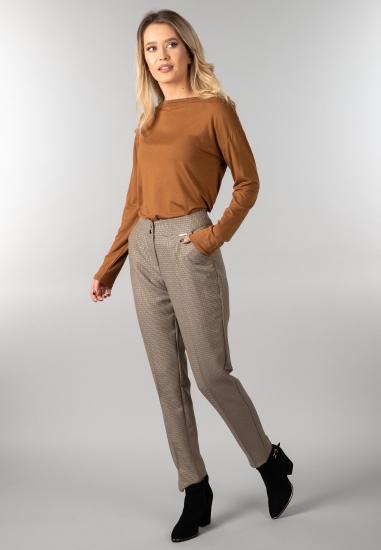 Bluzka damska z długim rękawem Ake - 004BEZ
