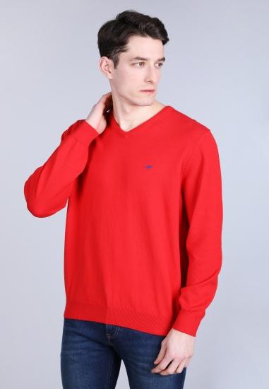 Sweter męski z dekoltem w serek Fynch-Hatton