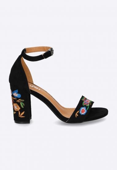 Kwieciste sandały damskie...