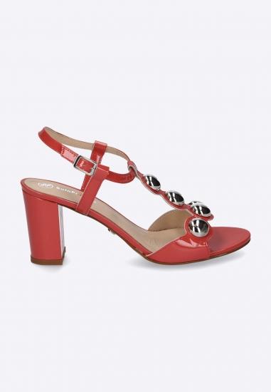 Sandały na obcasie ze zdobieniem SOLO FEMME