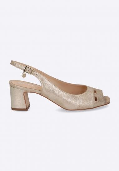 0b33868d178f5 Złote sandały z wycięciami SOLO FEMME. Sandały na obcasie Gian Marco Venturi  ...