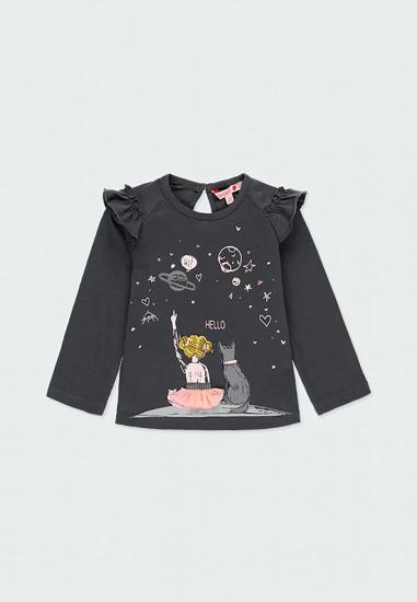 Koszulka z długim rękawem dla dziewczynki Boboli