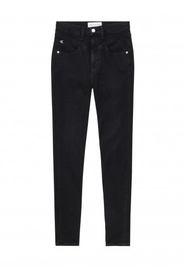 Spodnie damskie z wysokim stanem Calvin Klein Jeans