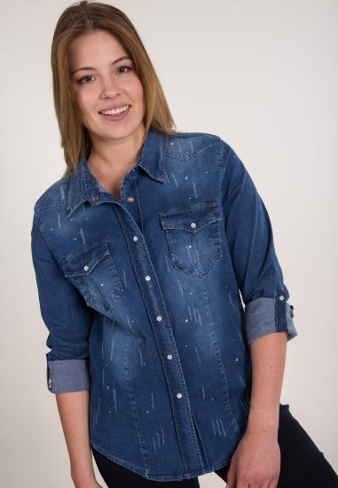 Koszula jeansowa ze...