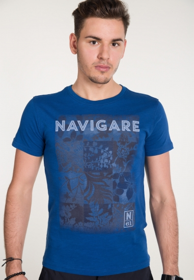 T-shirt z nadrukiem NAVIGARE