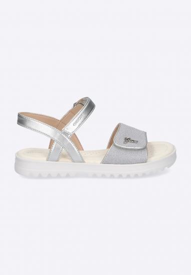 Srebrne sandały dziewczęce GEOX