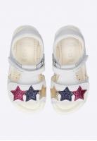 Sandały dziewczęce ze zdobieniem w gwiazdki GEOX