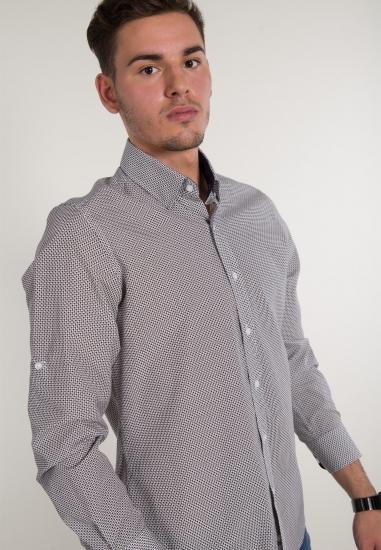 Koszula w drobne wzory EKS...